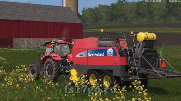 Мод «New Holland BB960A American» для Farming Simulator 2017