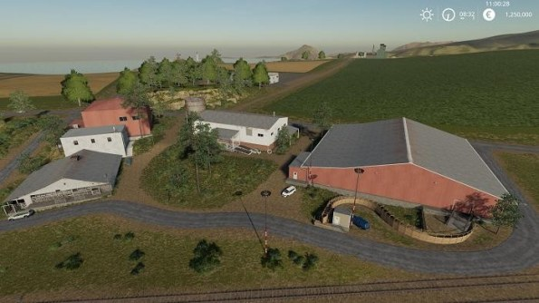 Карта «Ravenport (American Map) For Edit» для Farming Simulator 2019