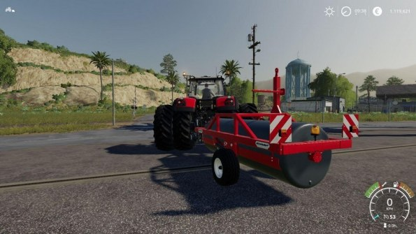 Мод «Meadow Roller Vario by Stevie» для Farming Simulator 2019