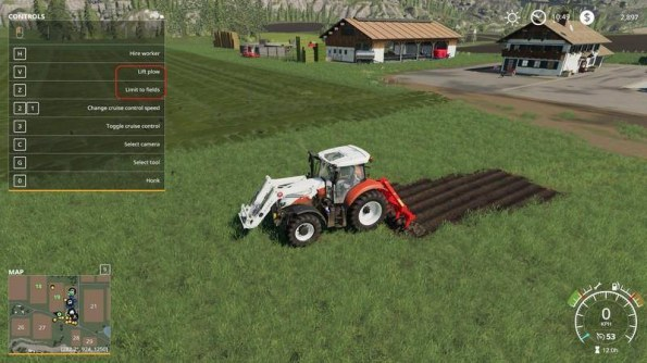 Мод «Kuhn DC 401 with plow function» для Farming Simulator 2019