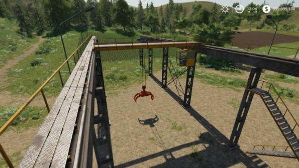 Мод «Working Rail Crane» для Farming Simulator 2019