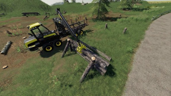 Мод «Wooden Support / Storage» для Farming Simulator 2019
