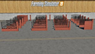 Мод «Placeable Fences and Post Pack 2» для Farming Simulator 2019