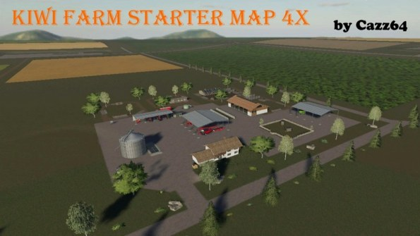 Карта «Kiwi Farm Starter Map 4X» для Farming Simulator 2019