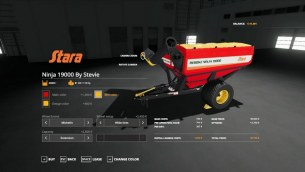 Мод «Stara Ninja 19000 Auger Wagon by Stevie» для FS 2019