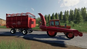 Мод «Фуражиры и прицеп ПТС» для Farming Simulator 2019