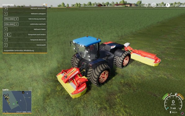 Мод «Claas Xerion 5000» для Farming Simulator 2019