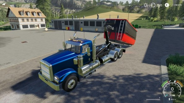 Мод «Freightliner FLD120 Hooklift» для Farming Simulator 2019