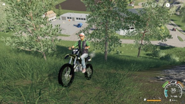 Мод мотоцикл «KTM Dirtbike» для Farming Simulator 2019