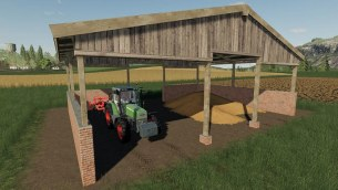 Мод «Wood Frame Open Sheds With Brick Wall» для FS 2019