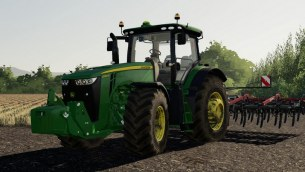 Мод трактор «John Deere 8R 2011» для Farming Simulator 2019