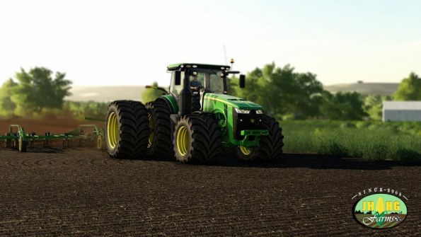 Мод «John Deere 8R US Series» для Farming Simulator 2019