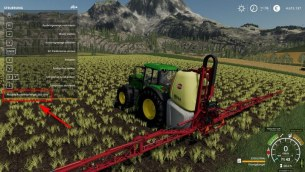 Мод «Variable Spray Usage» для Farming Simulator 2019
