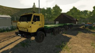 Мод «КамАЗ-4310 Платформа» для Farming Simulator 2019