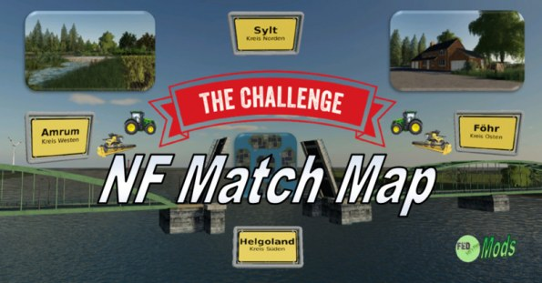 Карта «NF Match Map 4x» для Farming Simulator 2019