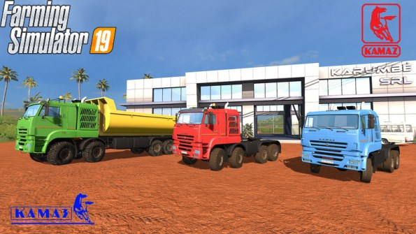 Мод Пак «КамАЗ 65228» для Farming Simulator 2019