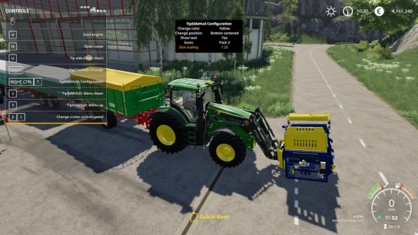 Мод Скрипт «Tip Side HUD» для Farming Simulator 2019