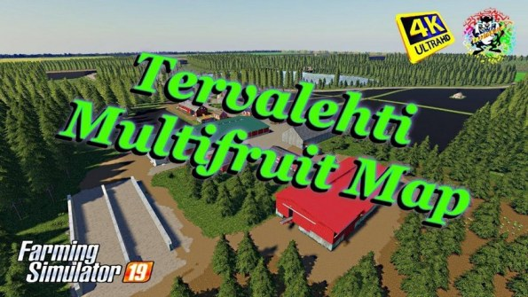 Карта «Tervalehti Multifruit» для Farming Simulator 2019