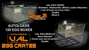 Мод «UAL Egg Crates» для Farming Simulator 2019