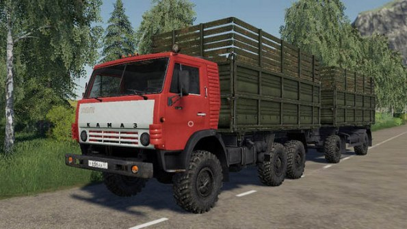 Мод «КамАЗ-4310» для Farming Simulator 2019
