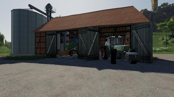Мод «Barn With Silos» для Farming Simulator 2019