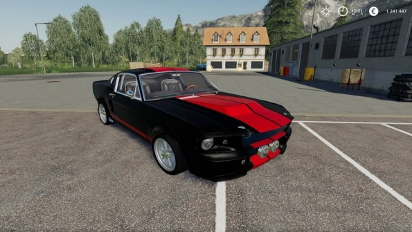 Мод «Ford Mustang GT500 Eleanor» для Farming Simulator 2019