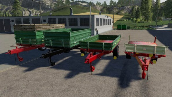 Мод «Trailer pack Universal 1 Achs Kipper» для Farming Simulator 2019