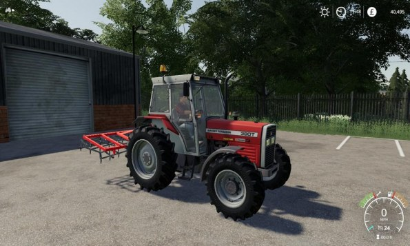 Мод «Massey Ferguson 390t» для Farming Simulator 2019