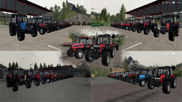Мод «Большой пак тракторов МТЗ Беларус» для Farming Simulator 2019