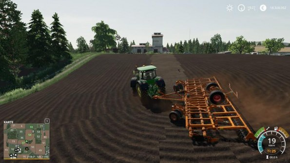 Мод плуг «Horsch Joker 12 RT» для Farming Simulator 2019