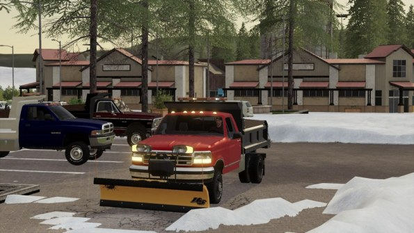 Мод «One Ton Dump Pack with Fisher plow» для FS 2019