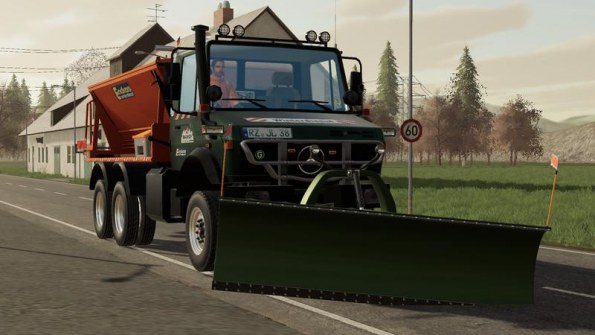 Мод «Winter service Unimog 2450 6x6» для Farming Simulator 2019