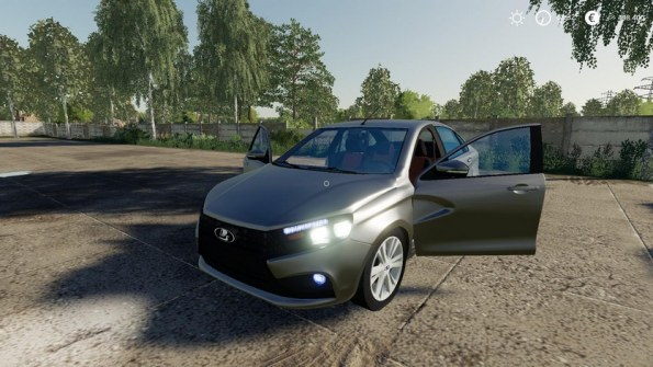 Мод автомобиль «Lada Vesta» для Farming Simulator 2019