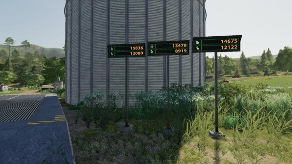 Мод «Silo Displays» для Farming Simulator 2019