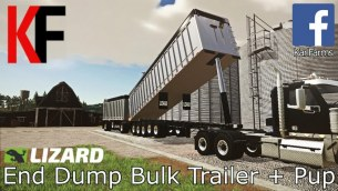 Мод «Lizard End Dump Bulk Trailer + Pup Trailer» для FS 2019