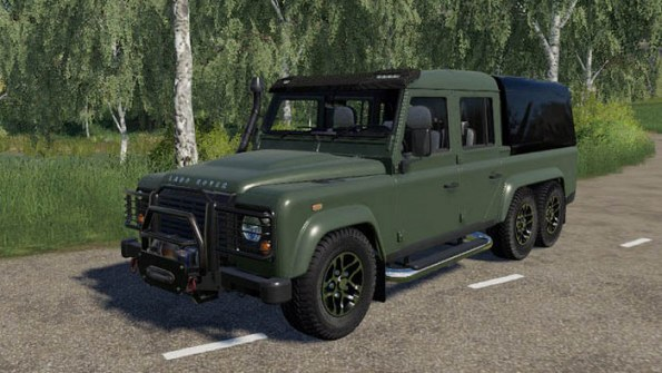Мод «Land Rover Defender 110 6x6» для Farming Simulator 2019