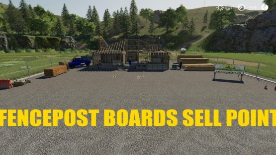 Мод «FencePost and Boards Sell Point» для Farming Simulator 2019