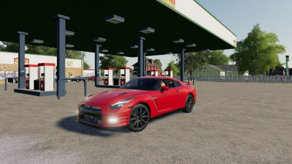 Мод «2015 Nissan GTR» для Farming Simulator 2019