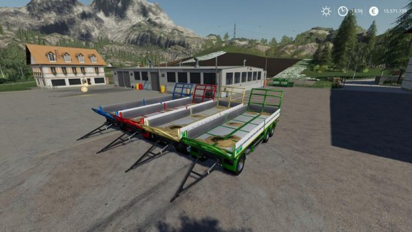 Мод «Trailer 3 axle with platform for Scania S580» для FS 2019