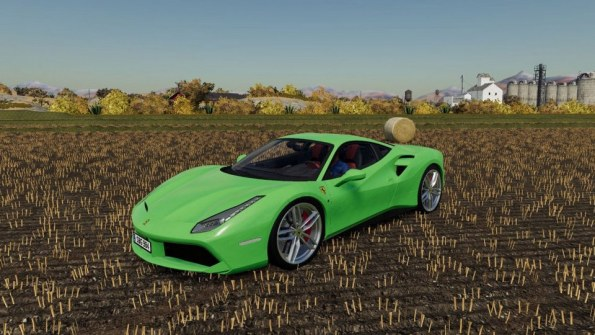 Мод «Ferrari 488 GTB» для Farming Simulator 2019