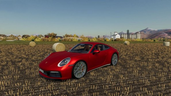 Мод «Porsche Carrera 4S» для Farming Simulator 2019