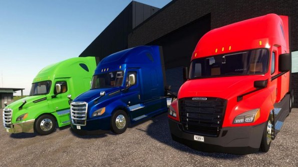 Мод «2018-2021 Freightliner Cascadia P4» для Farming Simulator 2019