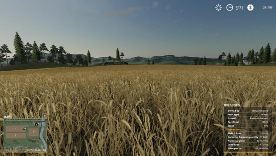 Мод «Additional Field Info» для Farming Simulator 2019