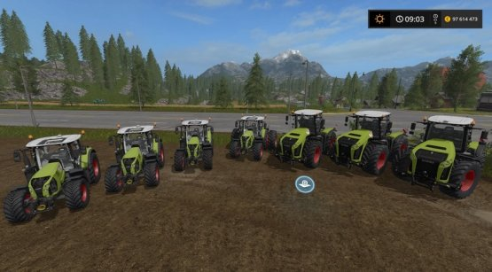 Мод «Claas Arion / Xerion Pack» для Farming Simulator 2017