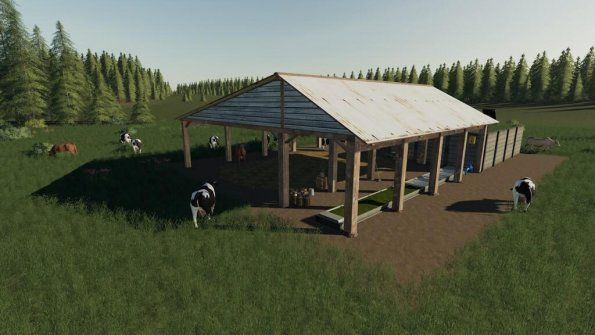 Мод «Open Cow Pasture» для Farming Simulator 2019