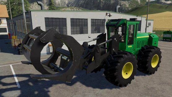 Мод «John Deere 643K» для Farming Simulator 2019