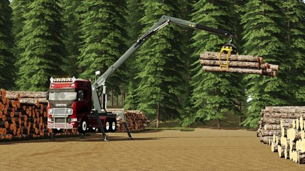 Мод «NMC Timber Loader» для Farming Simulator 2019