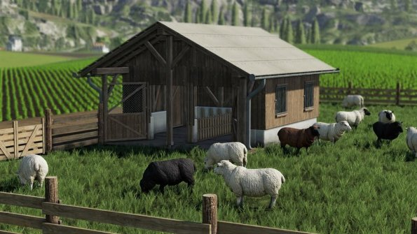 Мод «Sheep Pasture» для Farming Simulator 2019