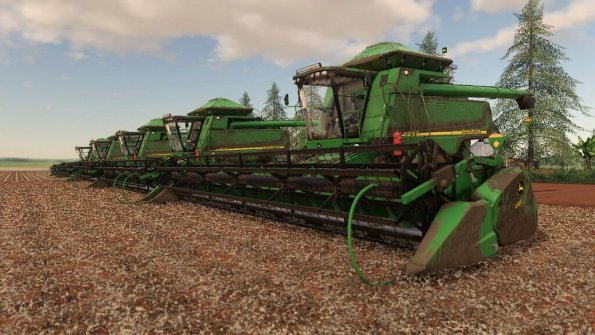 Мод «John Deere STS 9750 and 630F» для Farming Simulator 2019