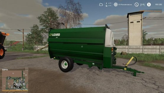 Мод «Lizard 340 Feeder wagon» для Farming Simulator 2019